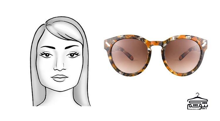 مدل عینک آفتابی مناسب فرم صورت مربعی