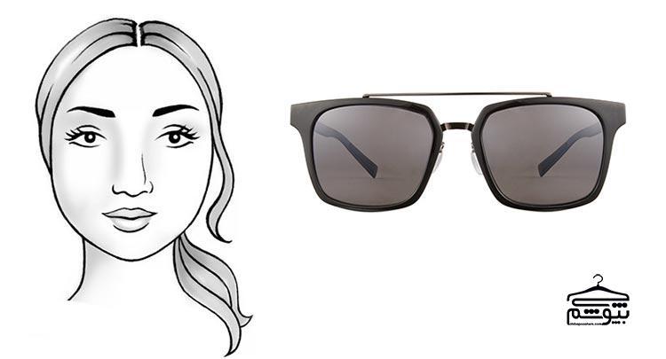 مدل عینک آفتابی مناسب فرم صورت گرد