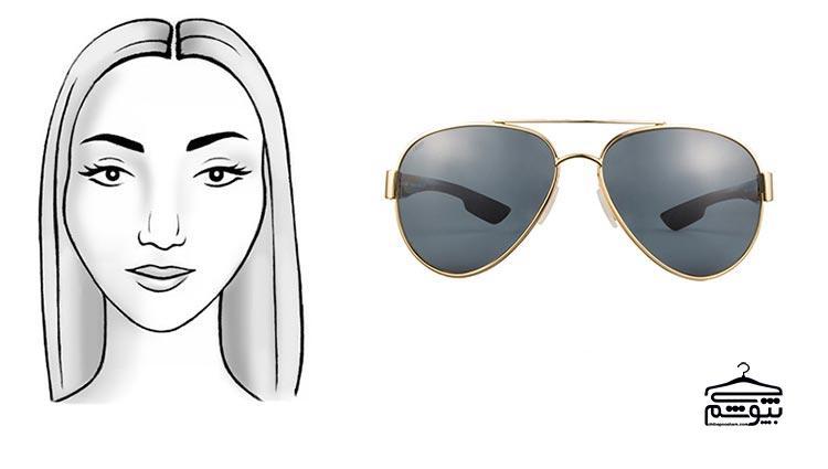 مدل عینک آفتابی مناسب فرم صورت قلب شکل