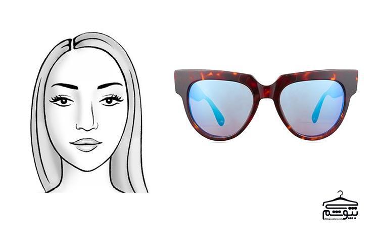 مدل عینک آفتابی مناسب فرم صورت بیضی شکل