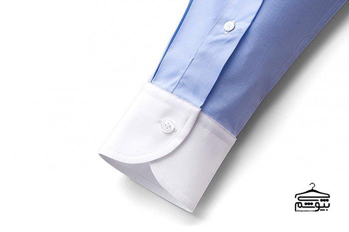 سر آستین پیراهن مردانه مدل لولهای، بلند و تک دکمه
