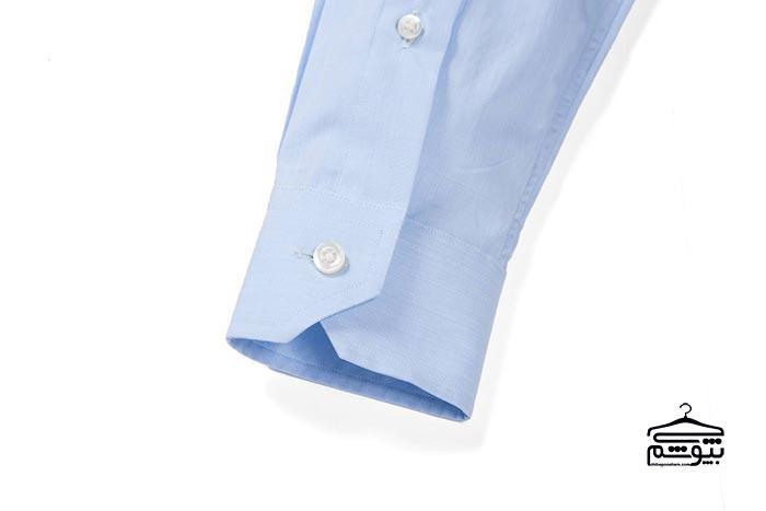 سر آستین پیراهن مردانه مدل زاویهدار و تک دکمه