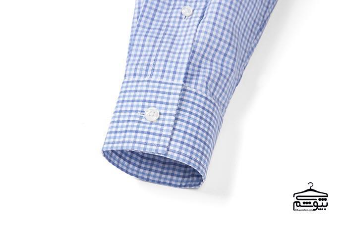 سر آستین پیراهن مردانه مدل مربعی و تغییر پذیر