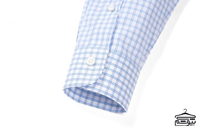سر آستین پیراهن مردانه مدل لولهای، کوتاه و تک دکمه