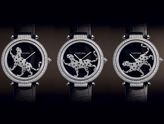 ساعت مچی 600،000 دلاری Cartier Masse Secret Panther Decor
