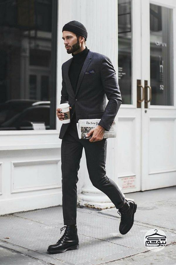 کفش مشکی یا قهوه ای