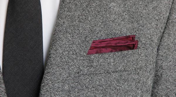 روش تا زدن دستمال جیب (مدل کلاسیک)