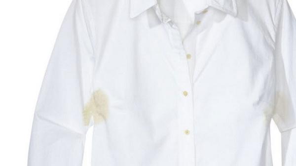 پاک کردن لکه زرد زیر بغل