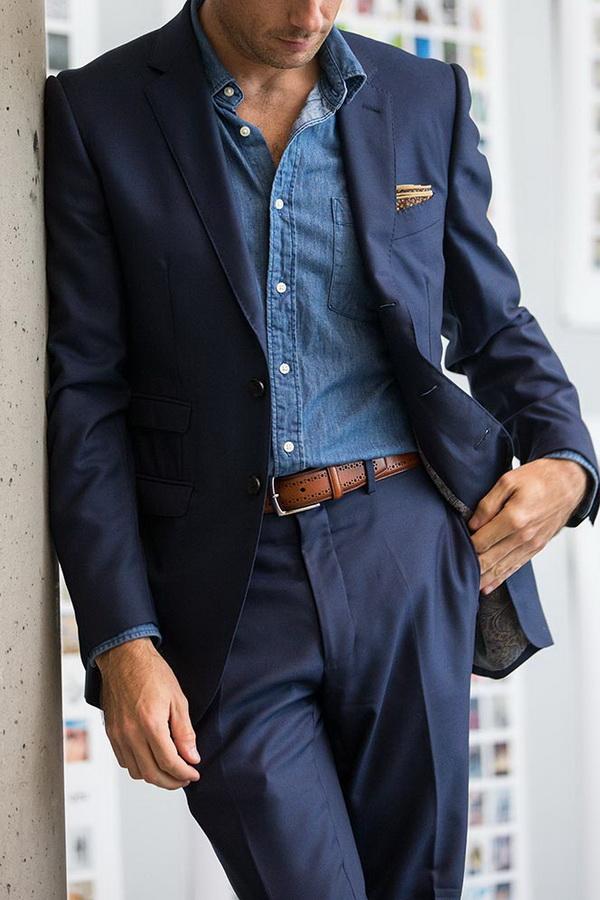 شیک پوشی با کت و شلوار بدون کراوات