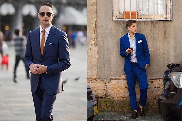 چگونه کت و شلوار آبی بپوشم؟