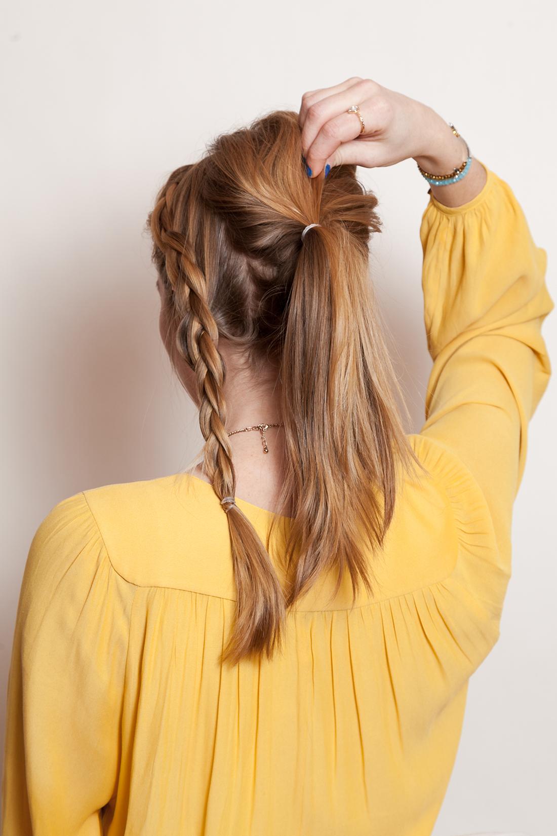 مدل دم اسبی بستن مو به روشی جدید