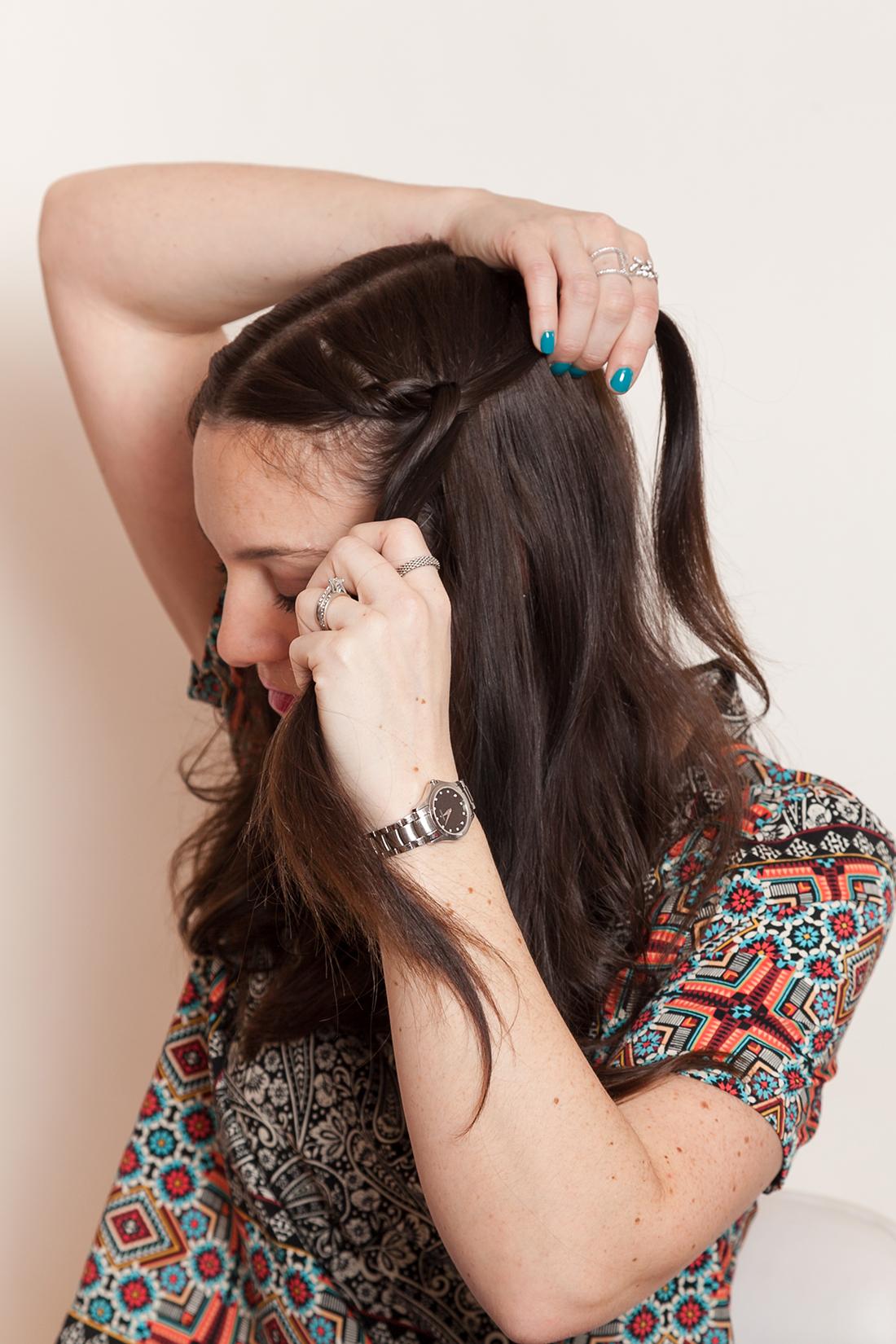 آموزش تصویری بستن مدل موی خرگوشی