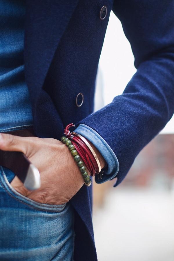 دستبند مردانه مهره ای