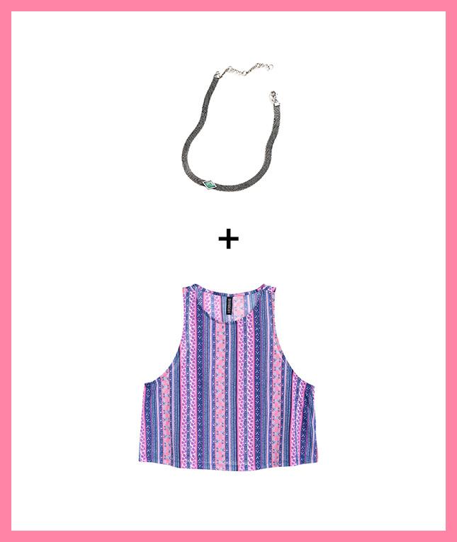 ست کردن گردنبند و لباس مجلسی