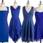 دو مدل ست کردن لباس مجلسی آبی