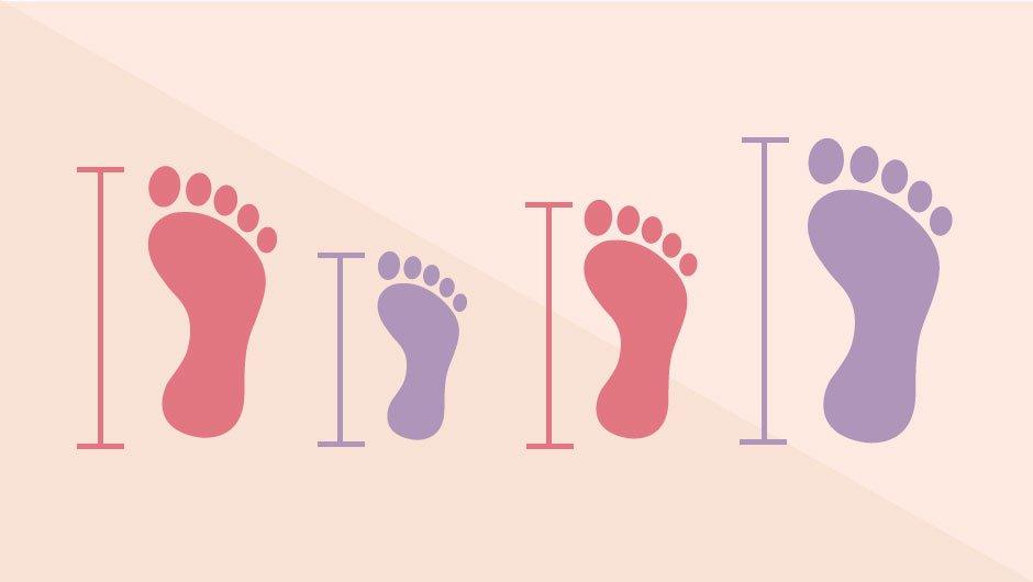 کاهش سایز کف پا