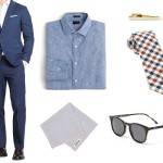 یک دست کت و شلوار آبی برای تابستان شما کافیست