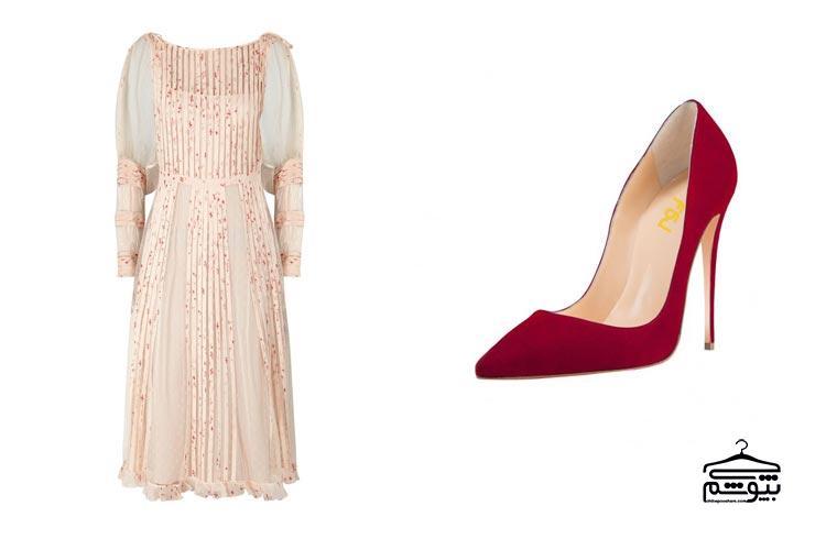 کفش قرمز را با لباس قرمز ست نکنید