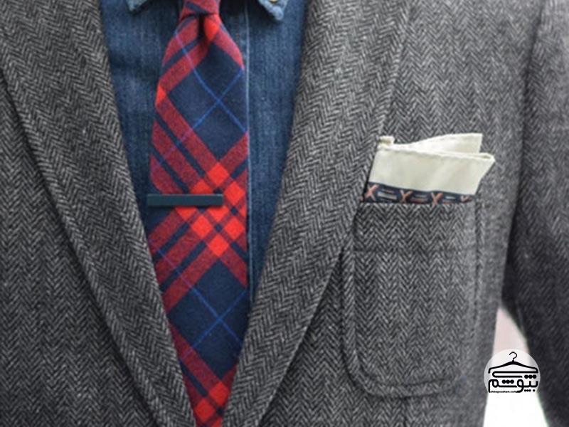 استایل کژوال با گیره کراوات