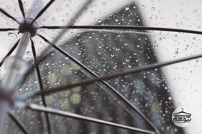 جنس و اندازه چتر را نیز بررسی کنید