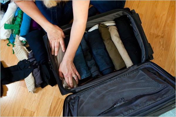 بهترین روش برای بستن چمدان