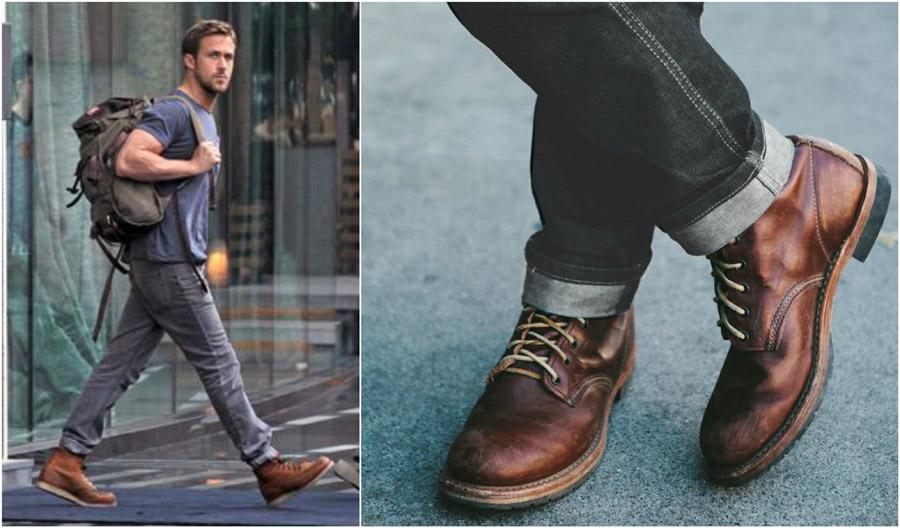 ست کردن رنگ کفش و جین خاکستری