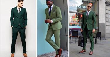 راه و روش پوشیدن کت و شلوار مردانه سبز