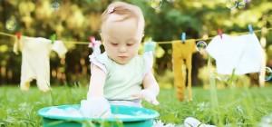 ۶ نکته برای شستن لباس نوزاد