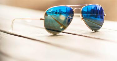 عینک خلبانی آینه ای