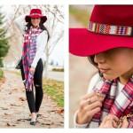 کلاه شاپو قرمز برای خانمها
