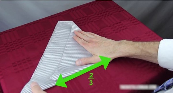 روش های تا زدن دستمال جیبی کت
