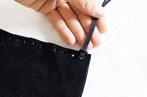 کیف چرم ریش ریش بسازید