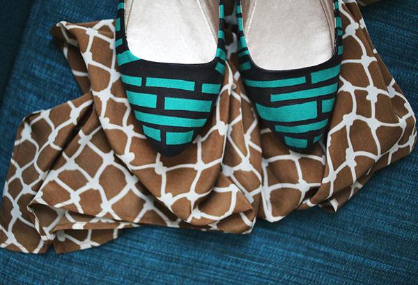 چطور یک کفش ساده را طرح دار کنید