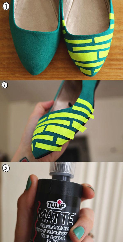 چطور یک کفش ساده را طرح دار کنيد