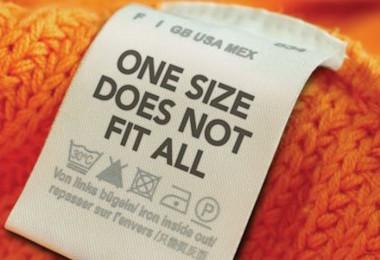 به سایز نوشته شده روی لباس ها بسنده نکنید!