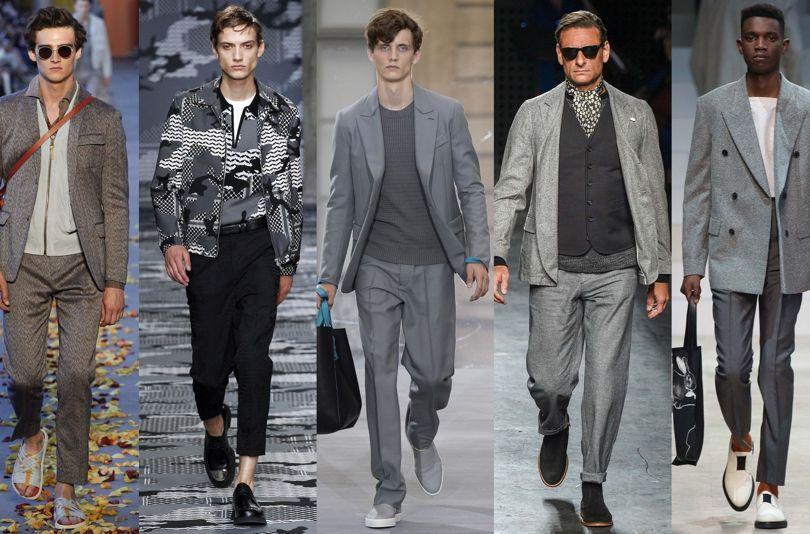 چگونه لباسهای مردانه خاکستری بپوشیم؟