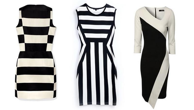 چگونه لباس شب سیاه و سفید بپوشیم؟