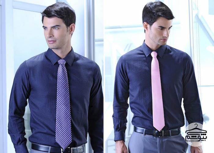 ست کردن رنگ پیراهن و کراوات مردانه