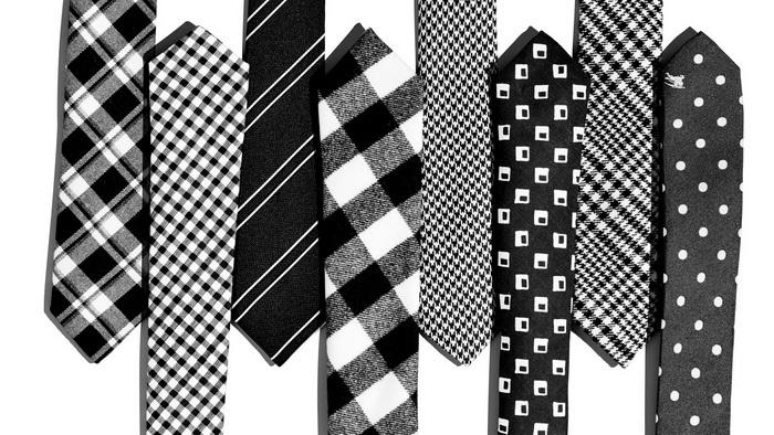 کراوات سیاه و سفید