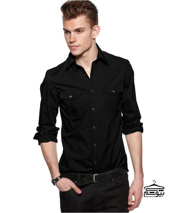 پیراهن مشکی مردانه