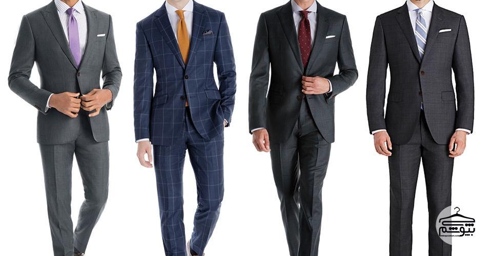 اصول پوشیدن کت و شلوار چهارخانه