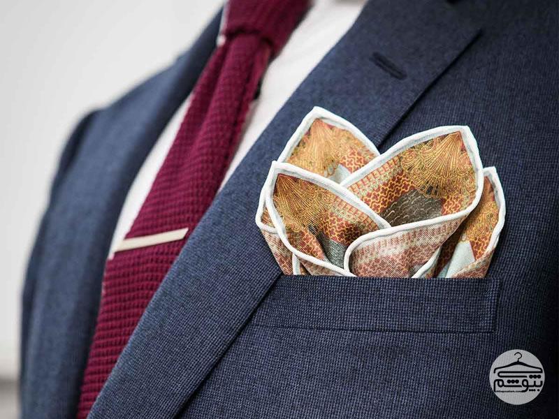 طرز استفاده صحیح از دستمال جیبی