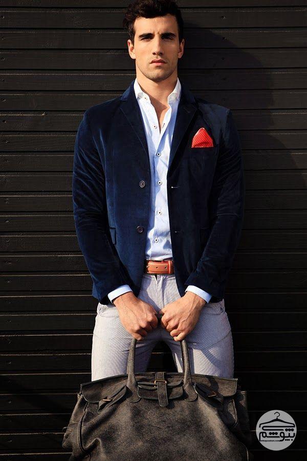 روشهای پوشیدن کت مخمل مردانه