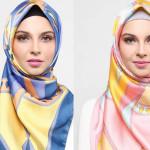 معرفی چند مدل روسری طرح دار برای پاییز