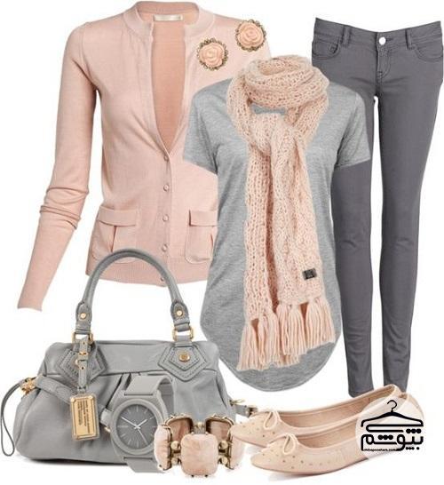 شلوار زنانه خاکستری را با چه رنگی بپوشیم؟
