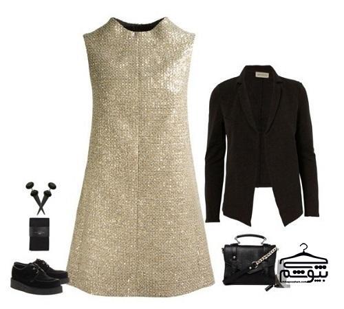 با لباس مجلسی پولکی مثل ستاره بدرخشید