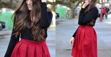 چند روش برای پوشیدن دامن قرمز زنانه