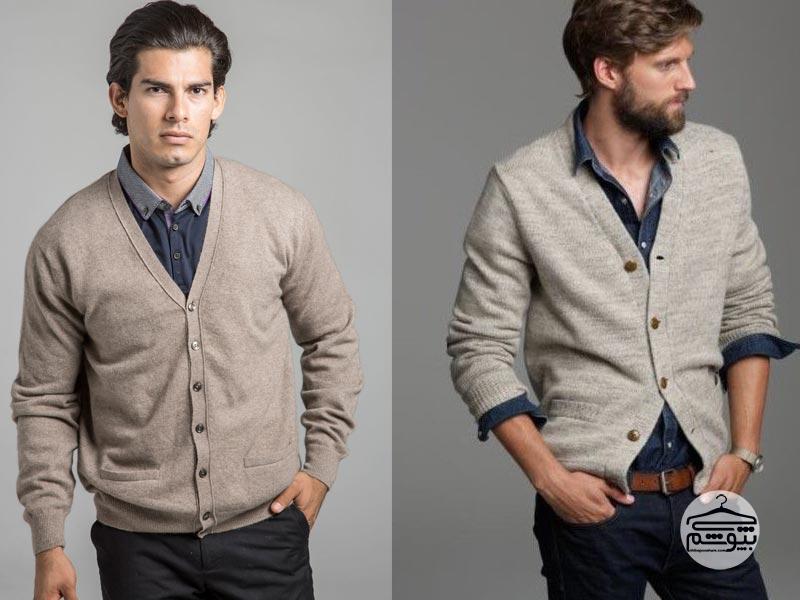 ژاکت بافتنی مردانه