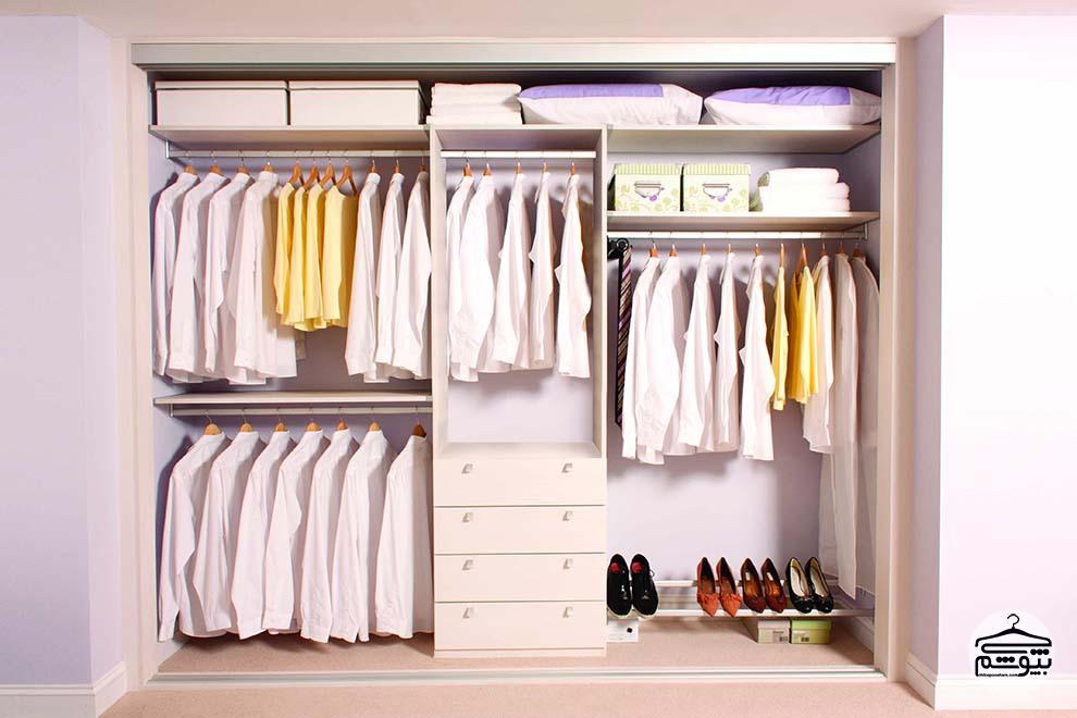 نکاتی برای داشتن کمد لباس منظم و شیک