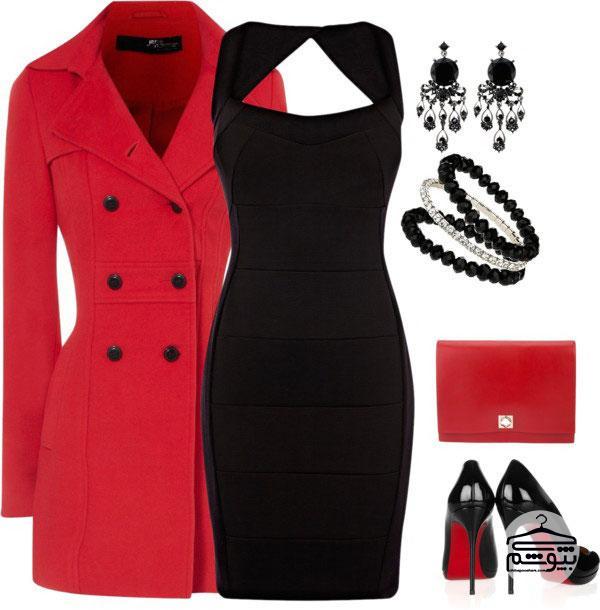 ست لباس مجلسی مناسب برای زمستان